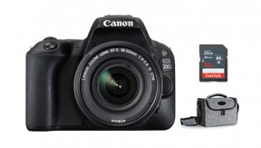 정품 EOS 200D 18-55 IS STM KIT (Black) + BAG 1973 + 16G