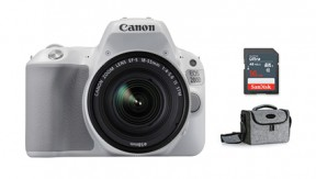 정품 EOS 200D 18-55 IS STM KIT (White) + BAG 1973 + 16G