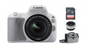 정품 EOS 200D 18-55mm + 40mm KIT (White) + BAG 1973 + 16G