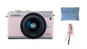 정품 EOS M100 Pink x KWANI Denim Edition