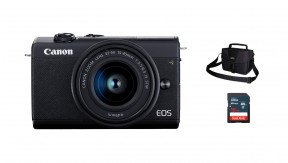 정품 EOS M200 (Black) 15-45 KIT + 3150 Bag + 16G