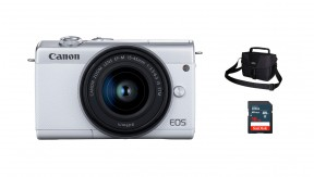 정품 EOS M200 (White) 15-45 KIT + 3150 Bag + 16G