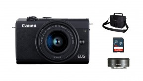 정품 EOS M200 (Black) 15-45 + 22 KIT + 3150 Bag + 16G